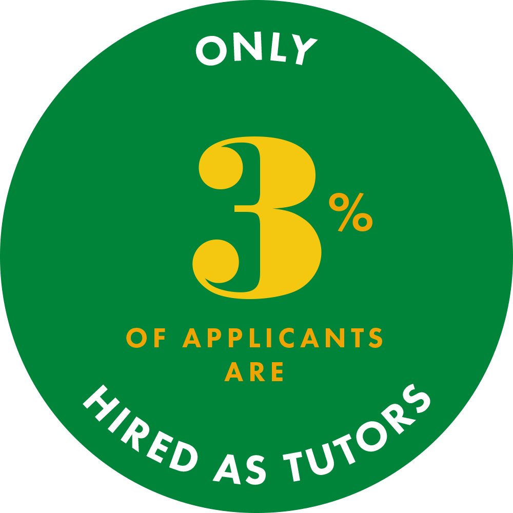 Only 3% of applicants are hired as Pinnacle Prep Tutors