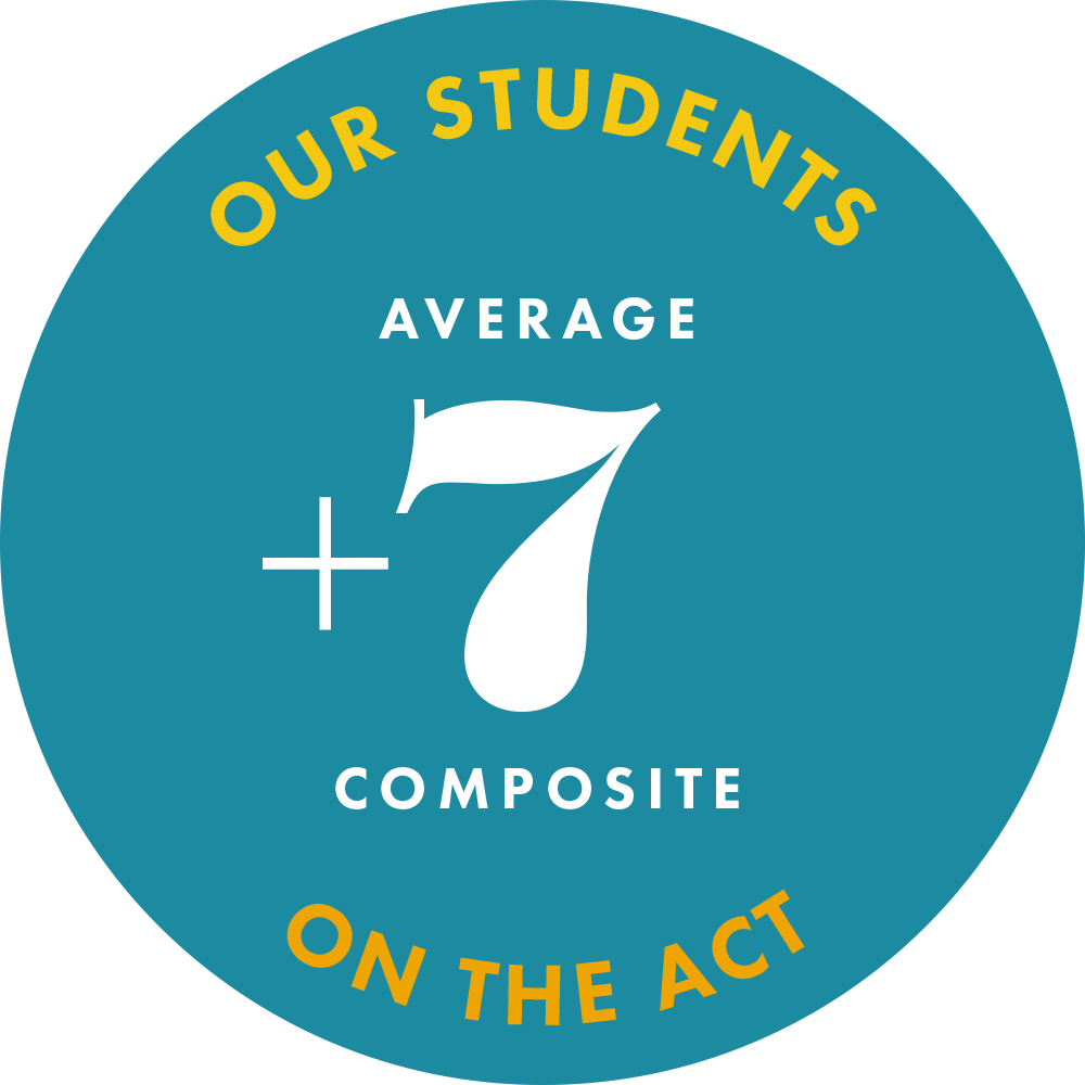 our students average a 7 point gain on ACT composite