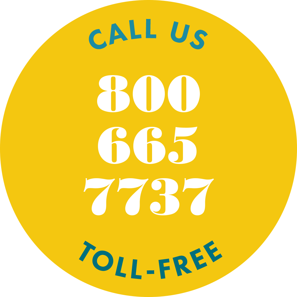 Call us toll free at 800-665-7737